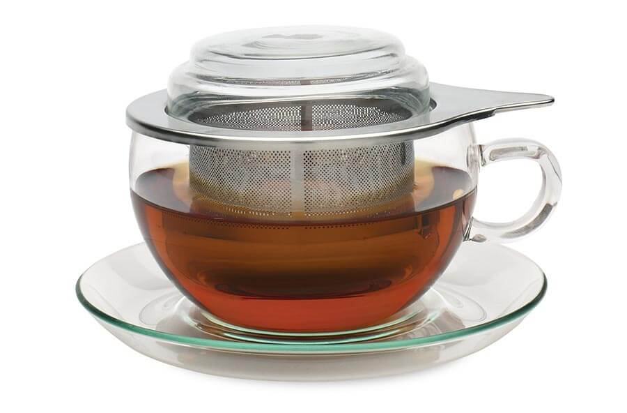 Glass Jumbo Teacup With Infuser Adagio Teas Uk Amp Europe